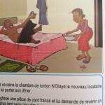 Cartoon tegen seksueel misbruik van vrouwen.