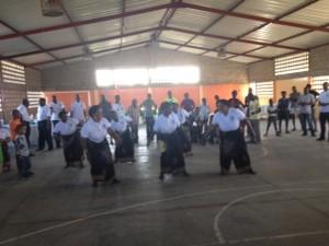 Dancing after mass