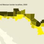 Economic development levels across US-Mexico border counties. Source: UNDP's 2009 Human Development Report