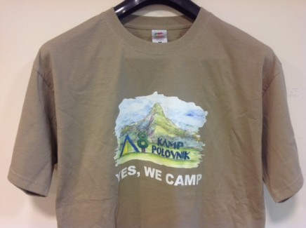 T-shirt Yes we camp
