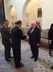 Dutch ambassador to Iraq, Jan Waltmans and president Massoum of Iraq