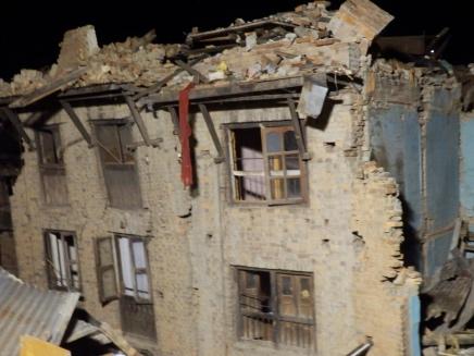 Schade woningen Nepal
