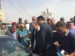 Dutch ambassador to Iraq Jan Waltmans in Fallujah